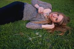 81/365 (Lauren Fowler) Tags: portrait woman selfportrait black home me nature girl grass self spring backyard warm arms legs longhair lips dandelion jeans springbreak blonde 365 wish makeawish