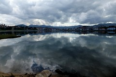 Aqu en el mar como en el cielo........ (TeresalaLoba) Tags: clouds reflections see mar spain galicia nubes reflejos baiona bay