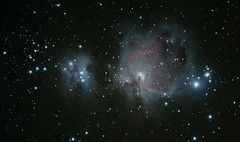 The Great Orion Nebula - M42 (version 3) (iksose7) Tags: canon stars long exposure space telephoto nebula astrophotography orion m42 astronomy 70300mm 1100d Astrometrydotnet:status=solved Astrometrydotnet:version=14400 Astrometrydotnet:id=alpha20130475697063