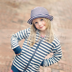 Stripes (AnnaHwatz) Tags: portrait cute girl hat stripes squarecrop dutchangle handsonhips odc2