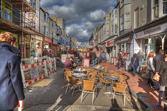 tables in the road (n.a.) Tags: cafe brighton chairs roadworks tables hdr