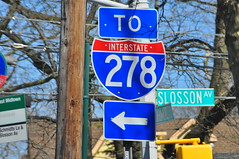 To Interstate 278 (Triborough) Tags: nyc newyorkcity ny newyork sign roadsign highwaysign statenisland sunnyside richmondcounty castletoncorners