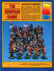 The European Range Adventurers (Spooktalker) Tags: vintage miniatures citadel ephemera advertisements manufacturer adventurers dragonmagazine