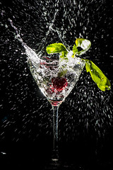 Cocktail of Champions (nils.rohwer) Tags: black droplets nikon cocktail laser splash nikkor highspeed trigger d800 105mm raddish