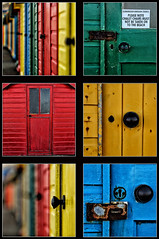 Whitby Tych Panel (Dervish Images) Tags: doors whitby beachhuts olddoor tych tychpanel dervishimages