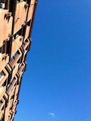 Seventy seven. So so blue (long may it last) (sarahjanequinn) Tags: blue sky buildings scotland spring glasgow iphone project365 uploaded:by=flickrmobile flickriosapp:filter=nofilter