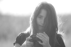 Candid (Andrea LD) Tags: portrait blackandwhite bw backlight canon eos giorgia bokeh bn explore 7d l usm 70200 ef f4 doughter 70200mm figlia