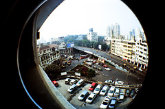 Kemps Corner Fisheye (raspberry dolly) Tags: india film lomography fisheye mumbai lomofisheye
