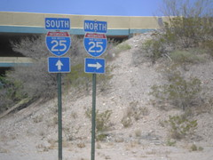 NM-152 West at I-25 (sagebrushgis) Tags: newmexico sign intersection shield i25 sierracounty nm152 freewayjunction