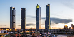 Madrid CTBA (jorge.alonsodejuan) Tags: madrid light sunset sky cloud building skyline last landscape four nikon cityscape towers scraper d800 cbta