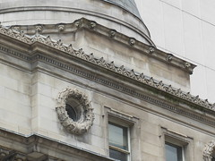 Row of lionheads, 205 Yonge Street (Bank of Toronto) (grecomic) Tags: sculpture toronto architecture downtown stonework bank yongestreet stonecarvings beauxarts yongest bankoftoronto 205yongest 205yongestreet