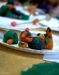 Small Creations (shaz 001) Tags: kindergarten selectivefocus plasticine a52 week16 assignment52162013