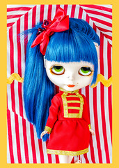 Oshi at the Circus (DisneyColor) Tags: red anime cute fashion yellow japan glitter toy toys japanese gold bigeyes doll pretty dolls circus pale greeneyes kawaii redlips blythe neo custom fashiondoll bluehair porcelain 12inch hasbro customs bighead adg blythedoll neos blythes blythedolls ashtondrakegalleries takaratomy fashiondolls neoblythe neoblythes 12inchdoll bargemann keithbargemann 12inchdolls sanxistreet lovenotecustoms