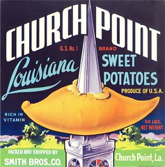 Church Point Sweet Potatoes (Jon Williamson) Tags: history vintage advertising ad advertisement labels vintascope