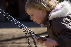 Lost in thought (DavidAndersson) Tags: playground spring julia swing tamron18200f3563