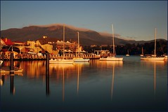 Early Morning at Bellerive (Trains In Tasmania) Tags: longexposure sea reflection water reflections river australia scene timeexposure scenary tasmania yachts bellerive mountwellington derwentriver neutraldensityfilter bwnd30 bw30nd derwentestuary tasmanianscenary tasmaniancoastalscenary