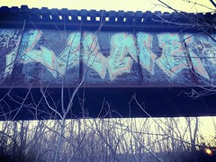 lone flc (graffcity2776) Tags: bridge minnesota train graffiti tracks minneapolis lone flc flickrandroidapp:filter=cairo