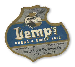 2013 LEMP Wedding Bottle Label (gregg_koenig) Tags: wedding bottle label lemp 2013