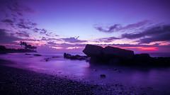 when the sun comes slowly.. (Jag Motoyu) Tags: longexposure beach water sunrise indonesia landscape nikon exposure tokina circular pantai cpl polarize