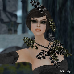 Zibska: Leigh Uomo Full Vs. (Rehana Seljan / MISS V Hong Kong 2013) Tags: fashion pose makeup jewelry secondlife gown desir posesion laviere zibska