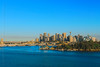 the poetry of blue (paloetic) Tags: city blue cityscape sydney australia bluesky nsw aus sydneyharbour waverton top20flickrskylines dedicationseries
