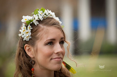 Flower child (Wonderful Becoming Photography) Tags: portrait flower wonderful photography nikon outdoor tony flowerchild headband demure becoming d90 weeg 2013