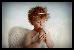 Cupidon 3 (Portrait Central) Tags: boy portrait music girl beauty angel vintage greek wings heaven child god goddess halo olympus musical instrument cherub mythology toga whistle greekmythology ocarina