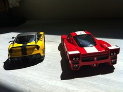 FXX and 599XX (Scuderia Phoenicia's Hobby and Die-cast models) Tags: red yellow grey model photoshoot ferrari collection enzo lamborghini lineup murcielago fabbri f50 143 minichamps fxx reventon hachette lp640 altaya 599xx collectionferrarienzo110
