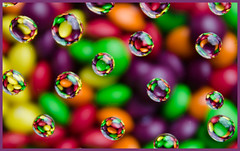 Skittles. (Yvette-) Tags: colours waterdrops nikond5100
