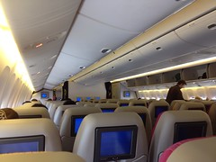 THAI B777-200 cabin (Beashel) Tags: thai boeing airways b777200 uploaded:by=flickrmobile flickriosapp:filter=nofilter phuketinternationalairporthkt