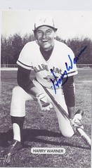 1979 J.D. McCarthy Toronto Blue Jays Postcard - Harry Warner #41 (bench coach 1977 - 1979) (kneeling with left leg on ground / with bat) - Autographed (WhiteRockPier) Tags: baseball postcard 1979 signed autographed torontobluejays jdmccarthy