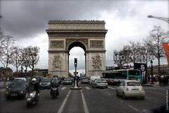 Arc de Triomphe (Stationary Nomads) Tags: road paris france cars monument architecture design arch traffic capital culture arcdetriomphe neoclassicism champslyses placecharlesdegaulle jeanchalgrin arcdetriomphedeltoile