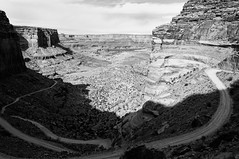 Hold Steady (DEARTH !) Tags: life road travel sunset blackandwhite sport landscape utah nationalpark desert outdoor lifestyle arches canyon cliffs adventure trail canyonlands moab active dearth shafertrail