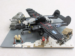 P-61 'Black Widow' diorama, v.2 (2) (Mad physicist) Tags: fighter lego wwii blackwidow diorama usaaf p61 nightfighter