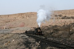 I_B_IMG_9703 (florian_grupp) Tags: china railroad train asia mine open transport railway loco steam cast xinjiang locomotive coal load js sandaoling