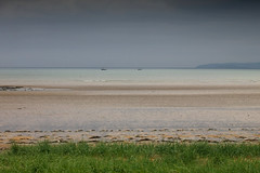 trawlers in rush (jbredrebel) Tags: ireland sea sky dublin green beach grass grey sand south tide rush lambay irishsea fingal