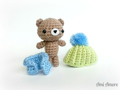 Cool Bear (denae.amiamore) Tags: cute animals stuffed handmade crochet adorable plush yarn plushies kawaii amigurumi