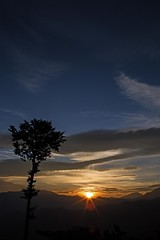 Alishan sunrise (shashin62) Tags: morning light sun colour tree nature clouds sunrise landscape asia taiwan alishan