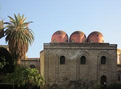 Chiesa San Cataldo (christing-O-) Tags: church architecture italia palmtree dome palermo sicilia middleage