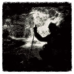 Parque das Nascentes / Headwaters Park (silwittmann) Tags: brazil people bw sc nature water silhouette brasil one waterfall natureza pb trail blumenau trilha atlanticforest parquedasnascentes novarussia trilhaecologica silwittmann