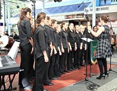 St Pauls College Band and Choir, Queen Street Mall Brisbane, (Photos by Lance) Tags: musicexpress citysounds brisbanecitybandsfestival stpaulssymphonyandstringsandchoir brisbanecbd brisbanecitymall queenstreet outdoor music performers schoolbands yamaha choir