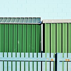 (SteffenTuck) Tags: outdoor urban green blue lines metal sheds steffentuck built architecture coastal abstract minimal
