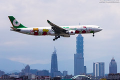 EVA Air Airbus A330-302 (Hello Kitty Loves Apples Livery) | B-16332 (HarenWang) Tags:   taiwan taipei travel fly flying veiw views trip traveling photography  airport aircraft taipeisongshanairport tsa songshan     international        eva air airbus a330302 hello kitty loves apples evaair     a330300 hellokitty livery b16332 a330 taipei101 101