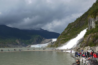 Alaska: Mendenhall Glacier and Nugget Fall.