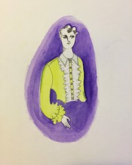 Aug 24 watercolor (thespacegrits2) Tags: dude cute androgynous androgyny watercolor style