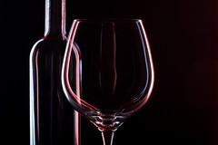 reflections (*Chris van Dolleweerd*) Tags: wine wineglass bottle winebottle reflections studio strobist minimal 50mm chrisvandolleweerd