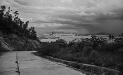 Da Nang (free3yourmind) Tags: danang vietnam asia black white bw city view river sea clouds cloudy