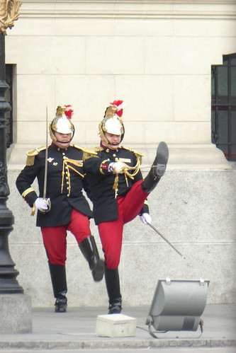Retirement Parade at Presidential Palace, Lima