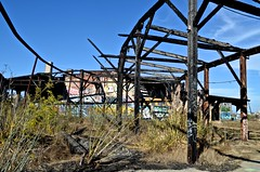 bayshore roundhouse, railroad, Southern Pacific (David McSpadden) Tags: bayshoreroundhouse railroad southernpacific graffiti