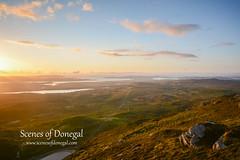 Lough Salt (www.scenesofdonegal.com) Tags: donegal failteireland northwestcoast northernheadlands wildatlanticway auroraborealis loughsalt muckishmt northernlights scenery sunset views walking walks